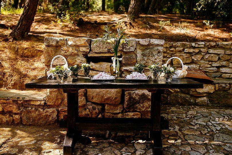 Outdoor wedding in Greece