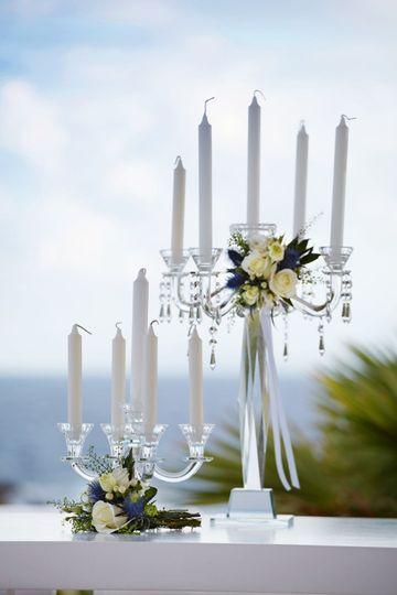 Crystal wedding decoration
