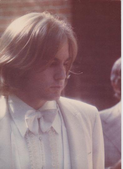 Michael Larrain attends his own wedding, 1972