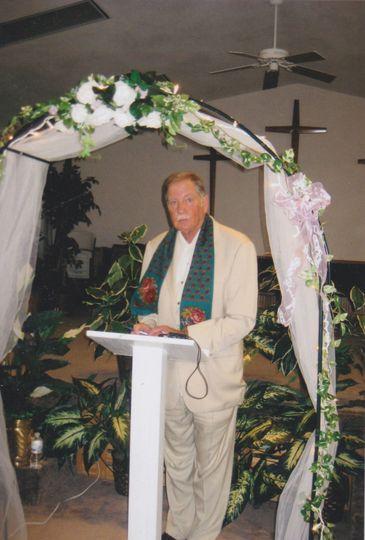 Michael preforming a wedding ceremony in Florida.