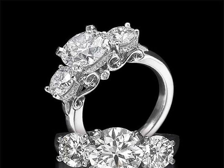 Tmx 1493652444279 Aor Three Stone Diamond Ring 3grande Pompano Beach, Florida wedding jewelry