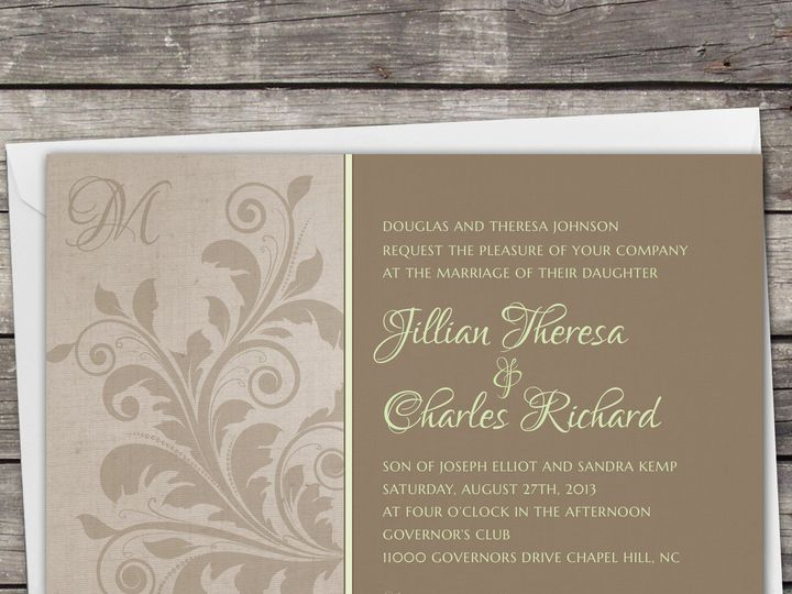Tmx 1381867255510 Largeimage Brown2 Novi wedding invitation