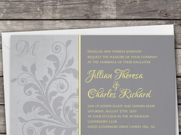 Tmx 1381867288176 Largeimage Grey2 Novi wedding invitation