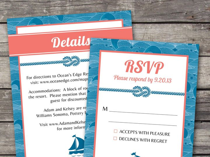 Tmx 1381867474289 Nauticalwaves Inforsvp Novi wedding invitation