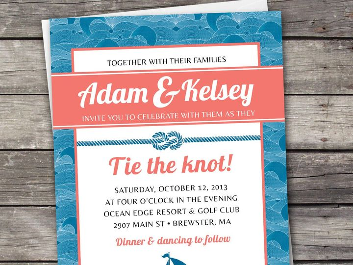 Tmx 1381867528164 Nauticalwaves Large Novi wedding invitation
