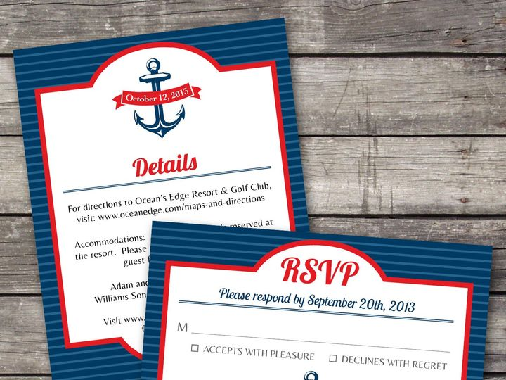 Tmx 1381867566896 Nauticalstripes Inforsvp Novi wedding invitation