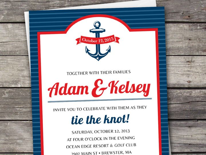 Tmx 1381867600242 Nauticalstripes Large Novi wedding invitation