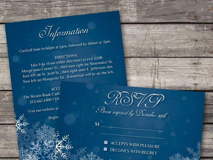 Tmx 1381867716050 Snowflake1 Inforsvp Novi wedding invitation