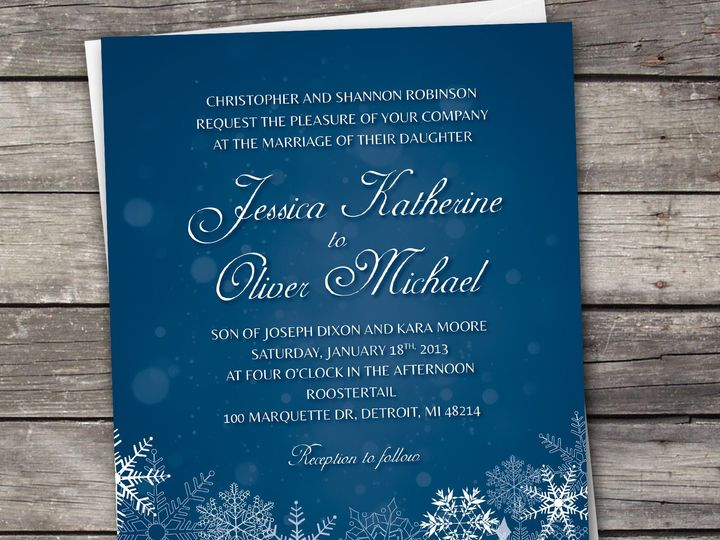 Tmx 1381867777820 Snowflakes1 Large Novi wedding invitation
