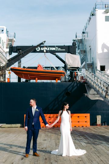 Maine Wedding Tug Boat
