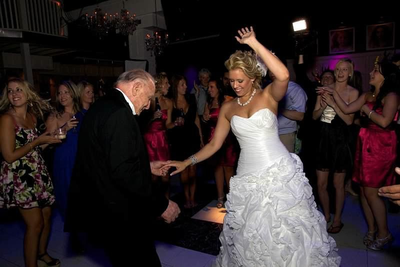 Bride with her father dancing
