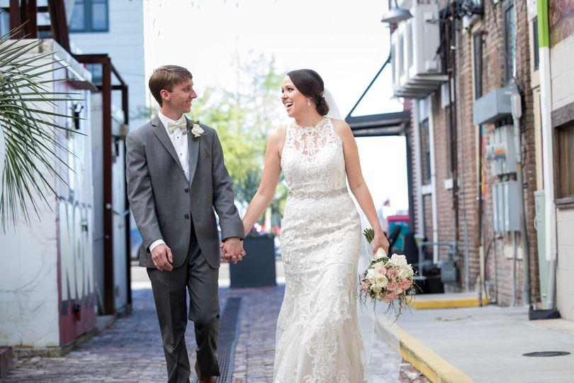 Joel & Lizzy Cottrell Verdon wedding day.
