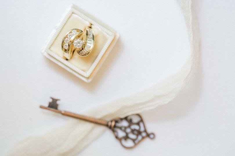 vintage film wedding ring shot photography 1