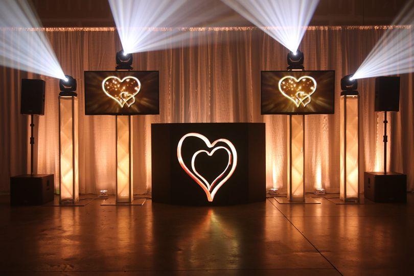 Heart-shaped lighting