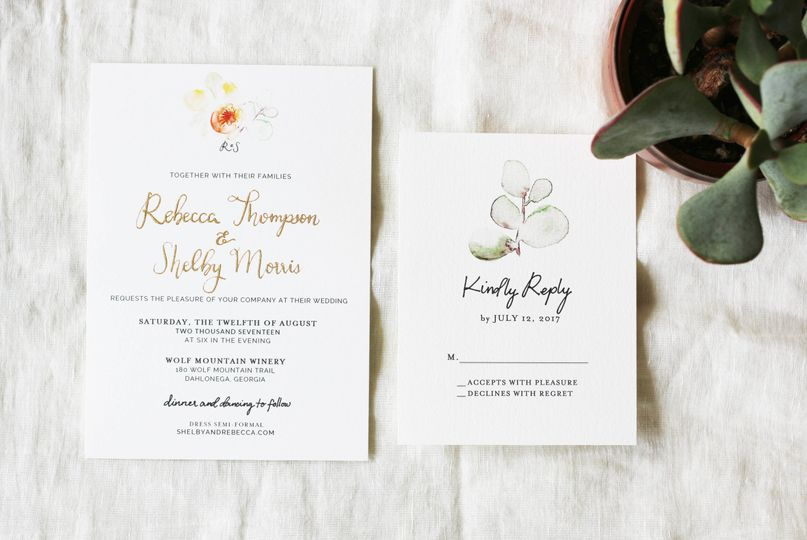 A late-summer, succulent inspired, vineyard wedding in the North Georgia Mountains, complete with a...