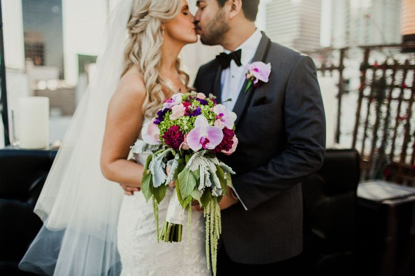 First kiss as Mr& Mrs