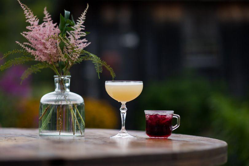 Cocktails are served