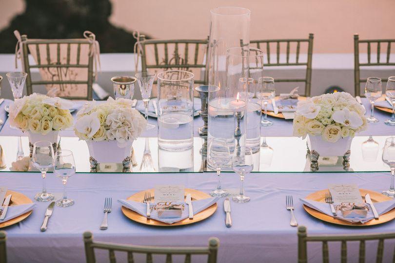 Long lavender tables