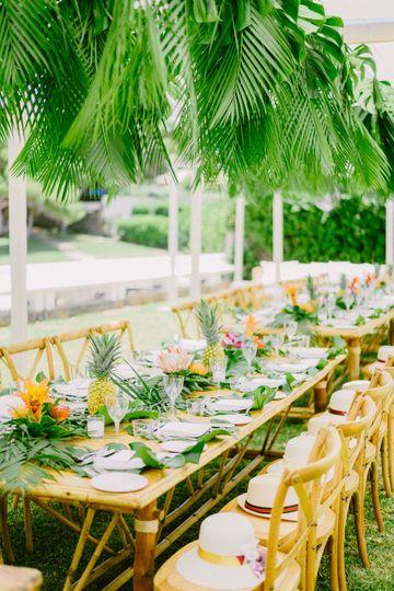 Beach wedding bbq