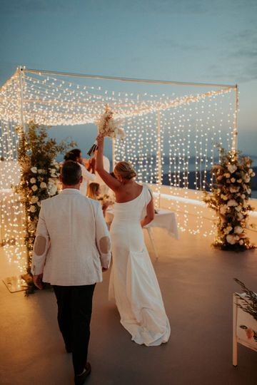Sunset Fairy Light Wedding