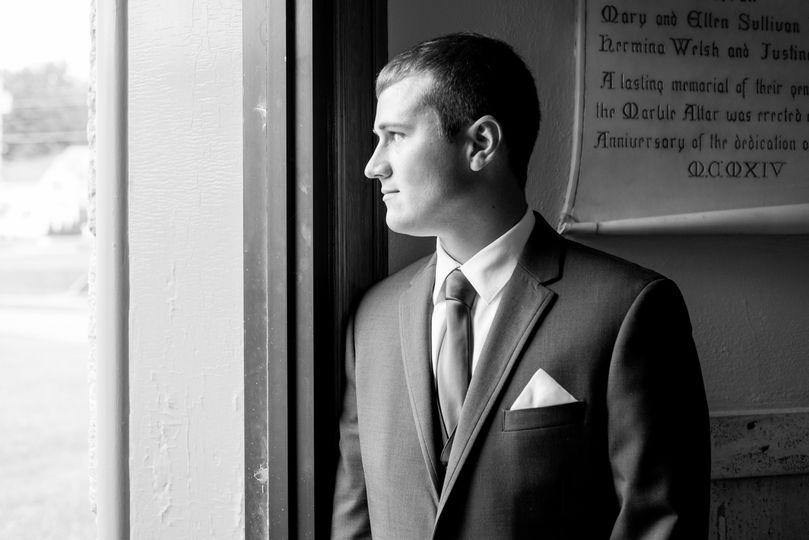 Onlooking groom