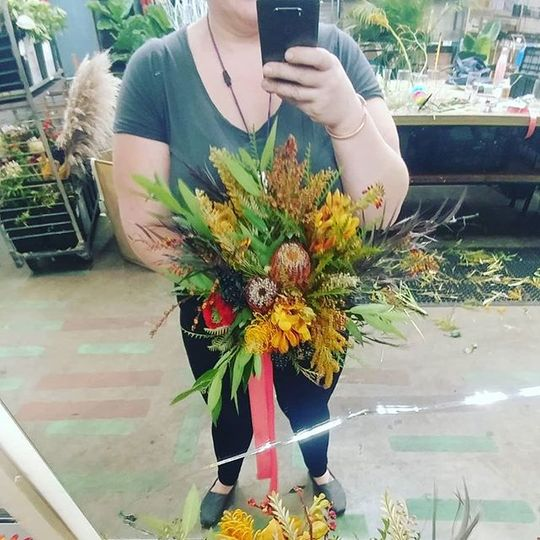 Textured fall bouquet