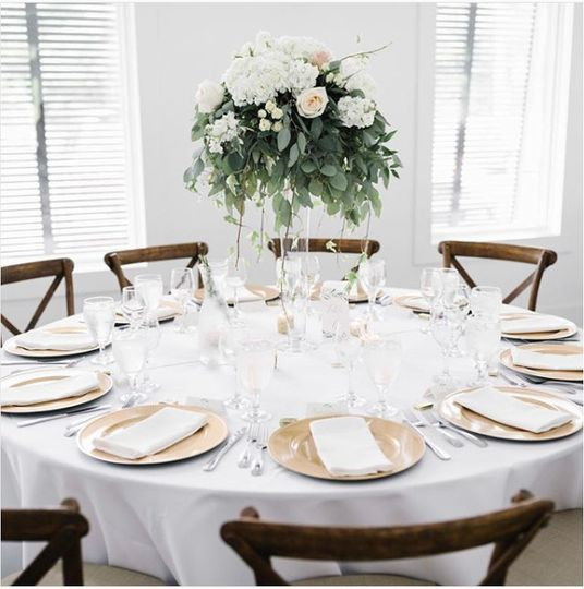 Table setting and floral centerpiece | Shane Long Photography