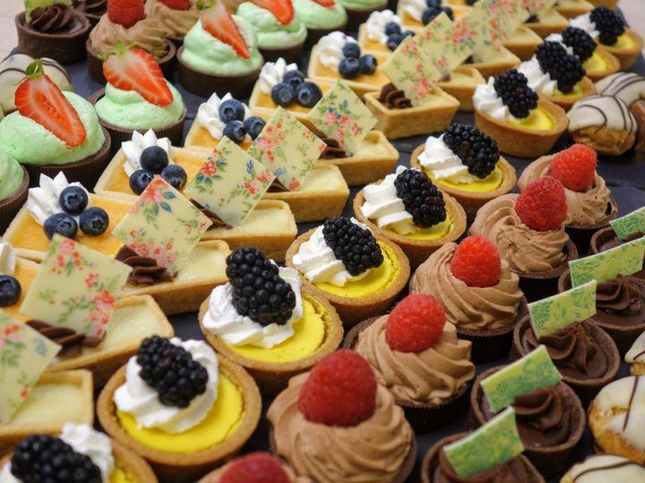 Assorted petite pastries