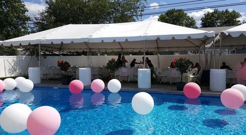 Breanne and Larena Poolside reception