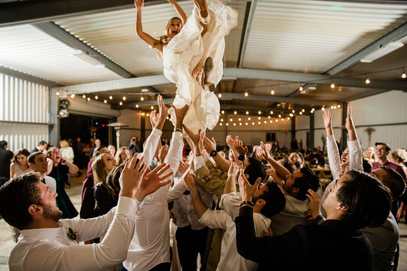 Crowd surf bride!