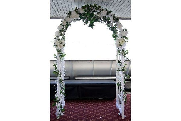 Bridal arch decorated by Adriana Lynch of Mikari Events