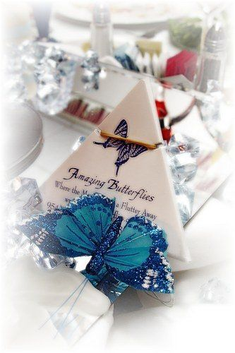 Butterflies were release after the bride and groom exchanged thier Vows
