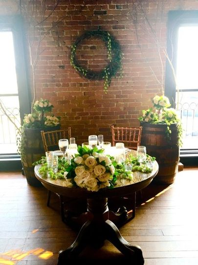 Sweetheart Table on the 4th Floor