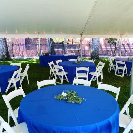 Reception event area