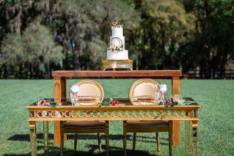 Head Table Outdoor Reception
