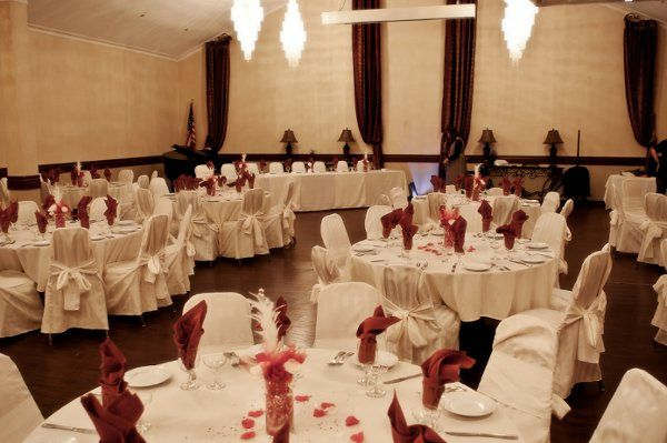 Reception in our Olympian Ballroom which will seat 100 persons for a wedding venue.