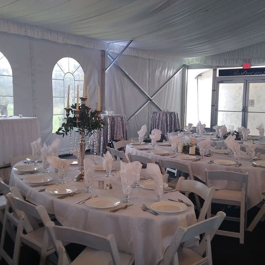 White House Tent reception setup
