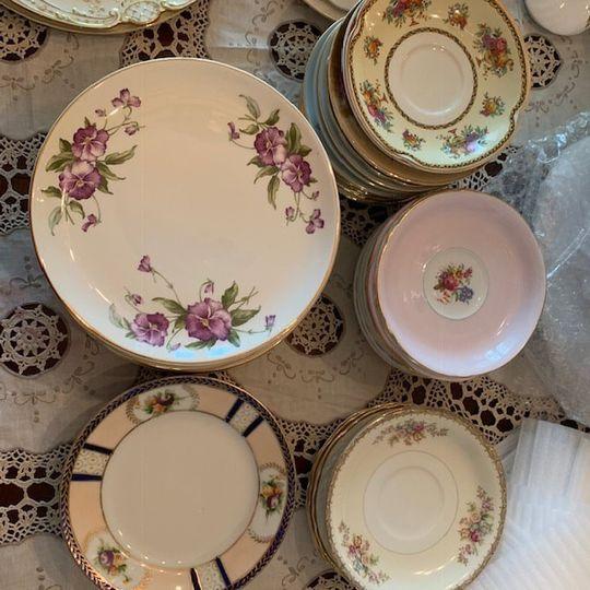 Lovely cake plates