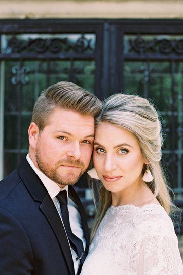 Bride & groom captured on film