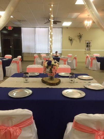 Table setting for rehearsal dinner