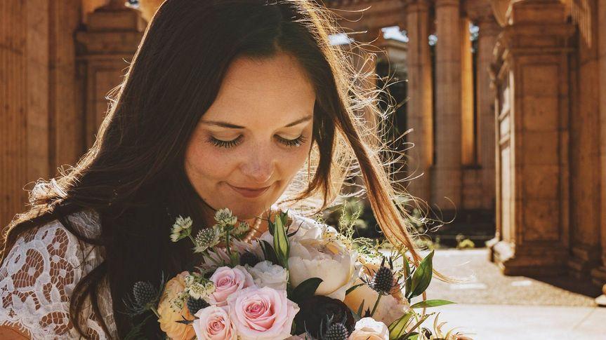 Focus on bride