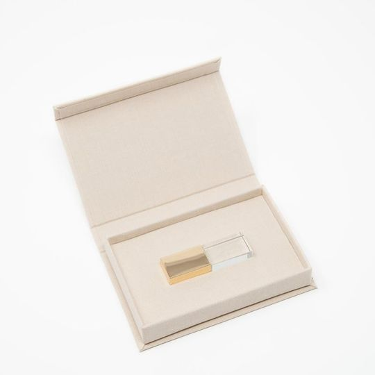 USB with Linen Box