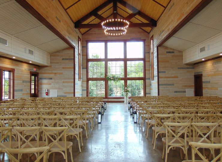 Ceremony barn interior