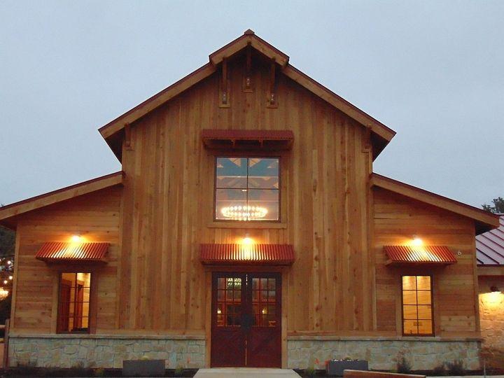 The lights | Ceremony barn exterior