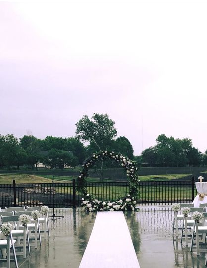 Wedding ceremony setup