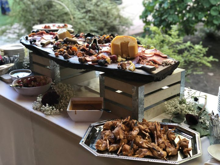 Array of delicious appetizers