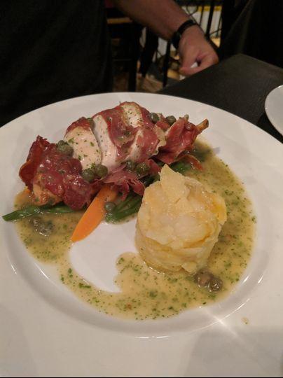 Chicken Prosciutto with Potato