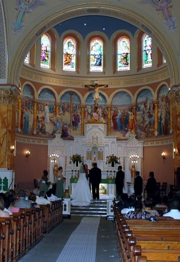 Catholic wedding at Saint Stanislaus church