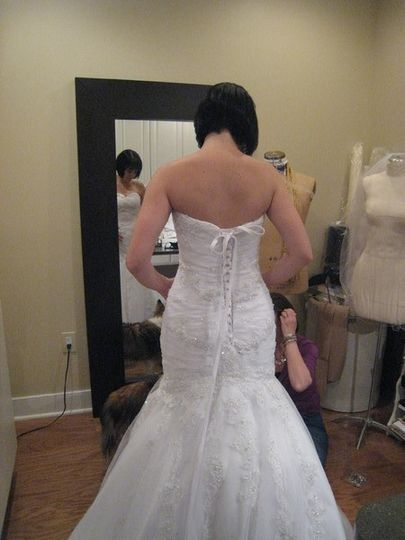 Fitting the wedding dress