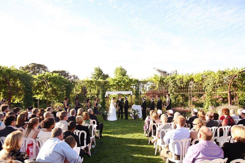 Ceremony in the Silverton Market Garden at The Oregon Garden.